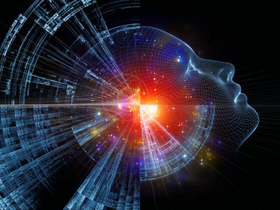 Künstliche Intelligenz Kopf Roboter